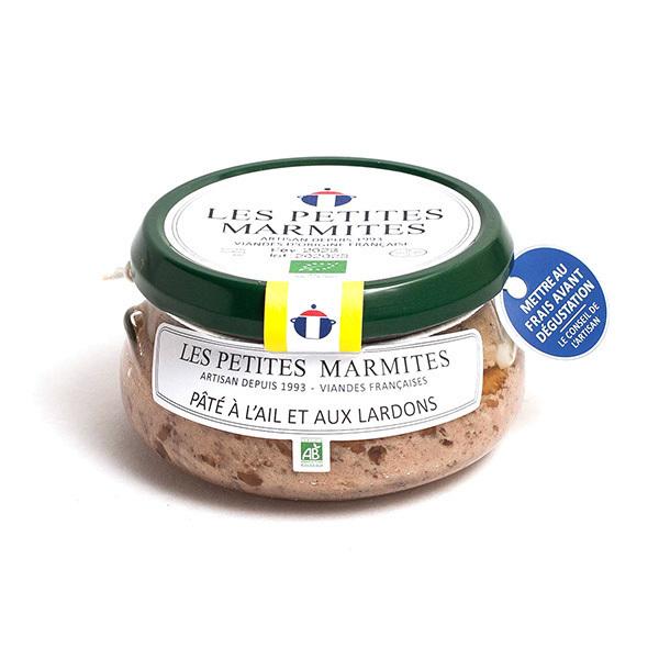 Les Petites Marmites - Pâté à l'ail et aux lardons 150g