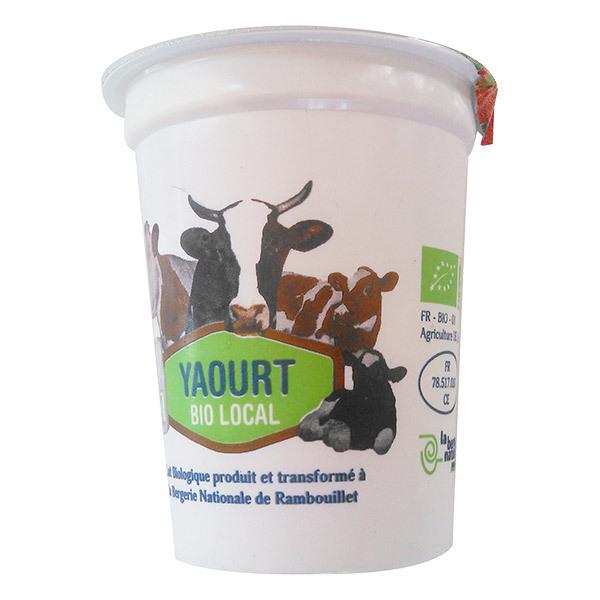 Produits Bio & Locaux IDF - Yaourt fraise Bergerie Nationale de Rambouillet 125g