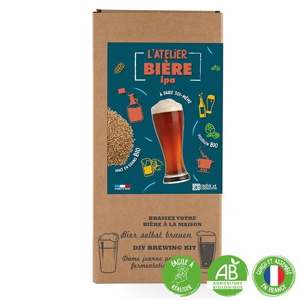Radis et Capucine - Coffret Brassage tout grain malt bio 4L bière IPA Bio