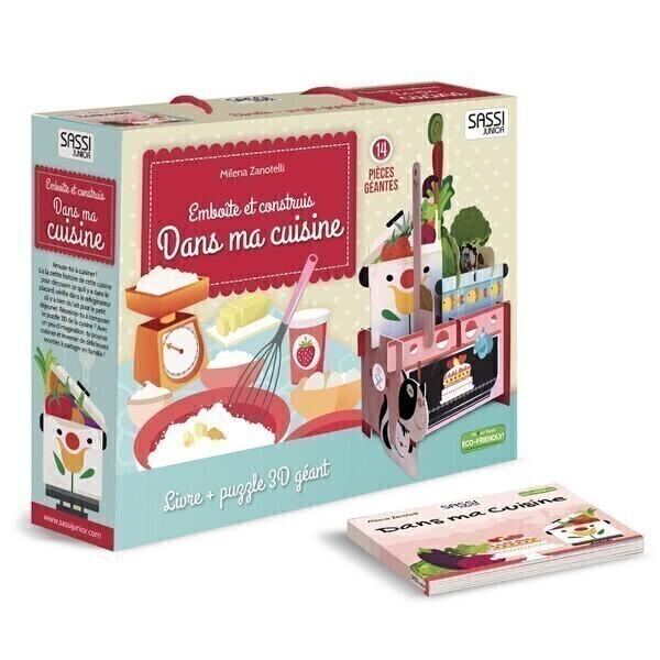 SASSI Junior - Livre et Puzzle 3D Dans ma cuisine - Dès 3 ans
