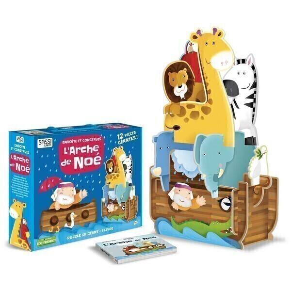 SASSI Junior - Livre et Puzzle 3D L'arche de Noé - Dès 3 ans