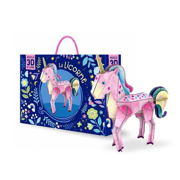 SASSI Junior - Livre et puzzle 3D la licorne - Dès 5 ans