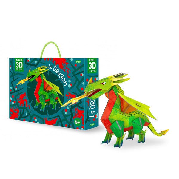 SASSI Junior - Livre et puzzle 3D le dragon - Dès 5 ans