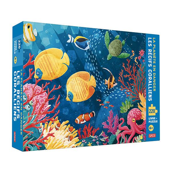 SASSI Junior - Livre et puzzle le Récif Corallien - Dès 5 ans