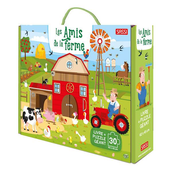 SASSI Junior - Puzzle géant Les amis de la ferme - Dès 3 ans