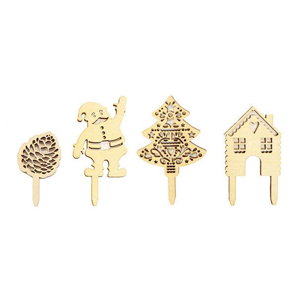 ScrapCooking - Accessoires déco Noël en bois x4