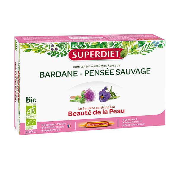 SUPERDIET - Bardane et pensée sauvage 20x15ml