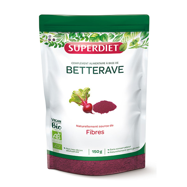 SUPERDIET - Betterave bio en poudre 150g