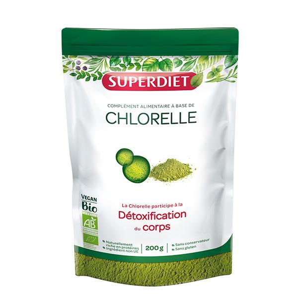 SUPERDIET - Chlorelle bio en poudre 200g