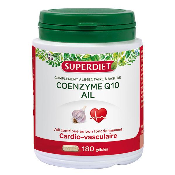 SUPERDIET - Coenzyme Q10 et ail 180 gélules