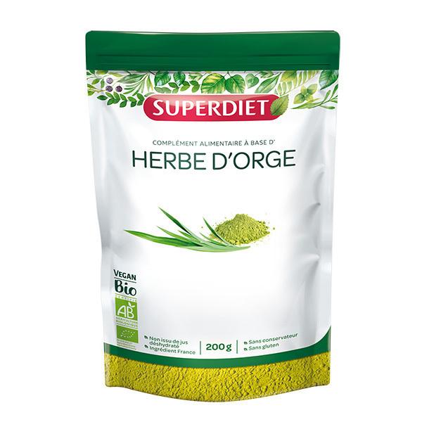 SUPERDIET - Herbe d'orge bio en poudre 200g