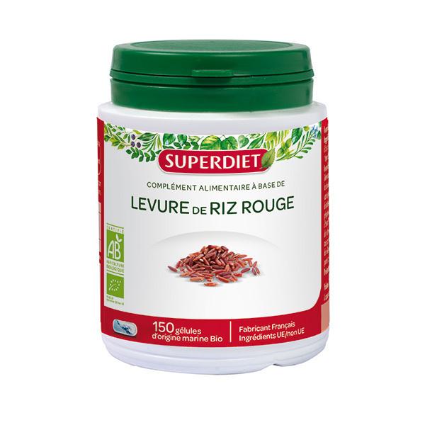 SUPERDIET - Levure de riz rouge 150 gélules