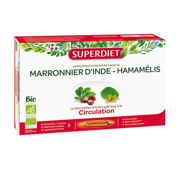 SUPERDIET - Marronnier d'Inde et hamamélis 20x15ml
