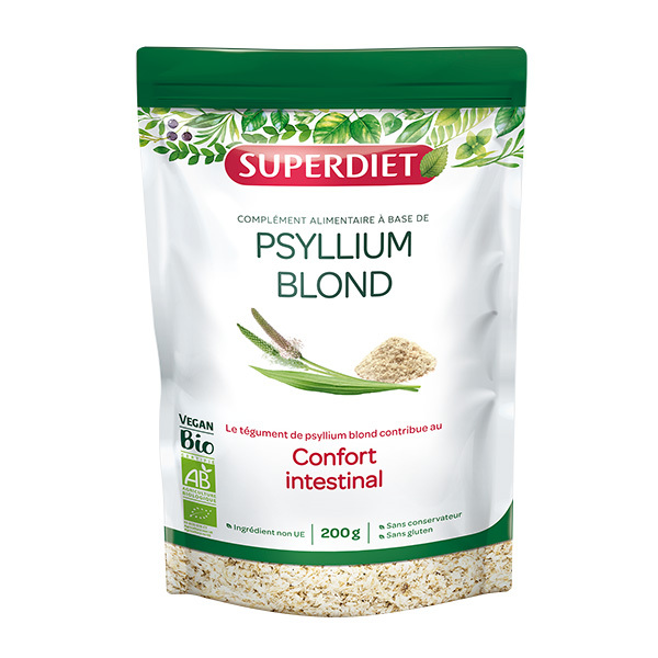 SUPERDIET - Téguments de psyllium blond bio 200g