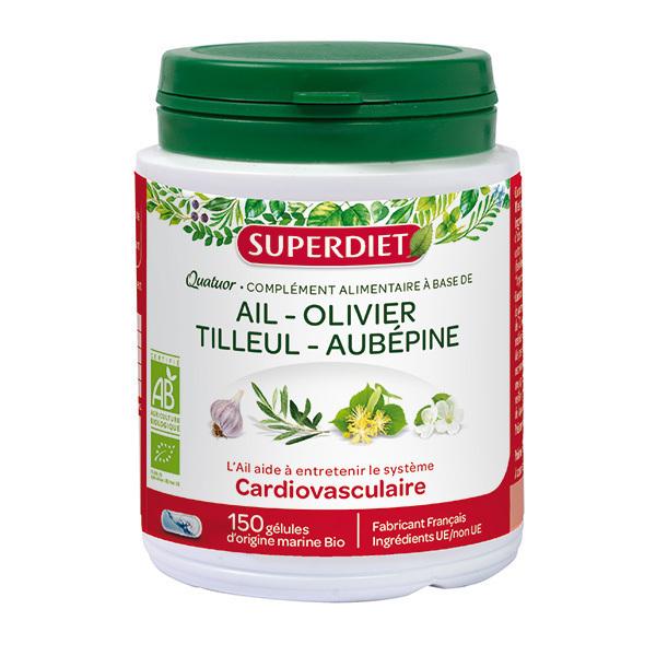 SUPERDIET - Quatuor cardiovasculaire 150 gélules
