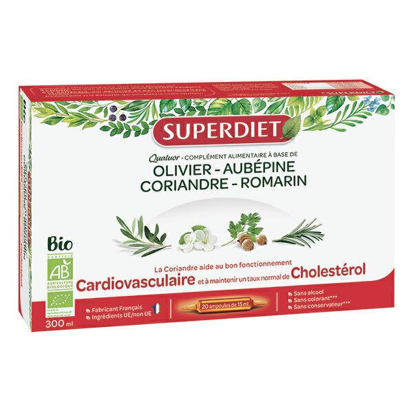 SUPERDIET - Quatuor cardiovasculaire 20x15ml