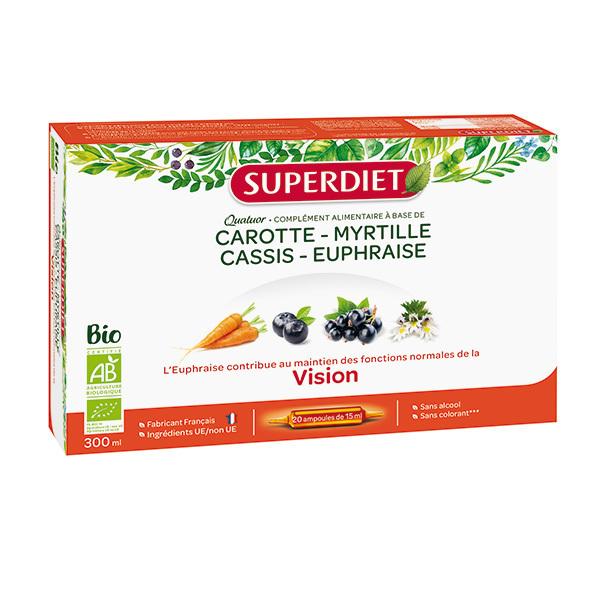SUPERDIET - Quatuor vision 20x15ml