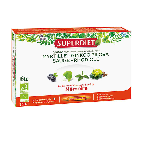 SUPERDIET - Quatuor mémoire 20x15ml