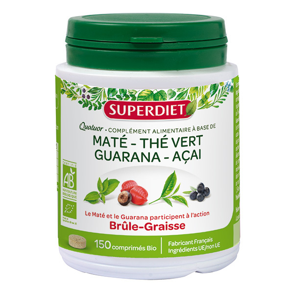 SUPERDIET - Quatuor brûle-graisses 150 comprimés