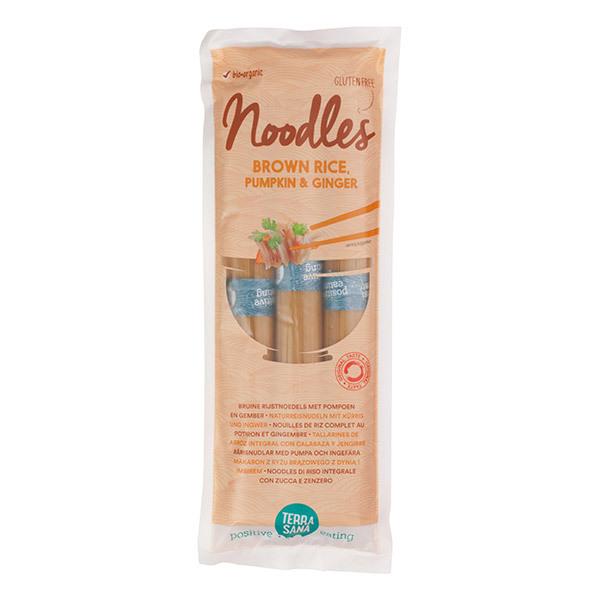 TerraSana - Noodles de riz complet au potiron et gingembre 250g