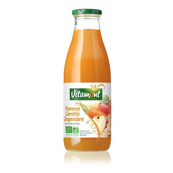 Vitamont - Jus de pomme carotte et gingembre 75cl