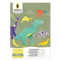 Pirouette cacahouete - Kit creatif dinosaures - Des 5 ans