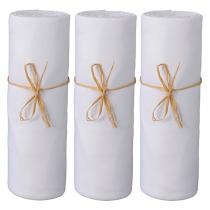 P'tit Basile - 3 Draps-housses Jersey 100% coton Bio 60x120 cm - Blanc