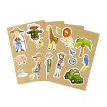 AGENT PAPER - 4 Cartes à Sticker Ferme Jungle - Dès 5 ans