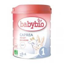 Babybio - Lot de 2 x Capréa 1 Lait de chèvre bio nourrissons 800g