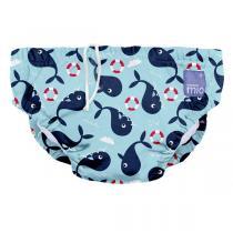 Bambino Mio - Couche de bain lavable Baie des baleines - De 12 à 15kg