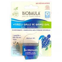 Biobaula - Kit découverte Pastilles de nettoyage écologiques x3