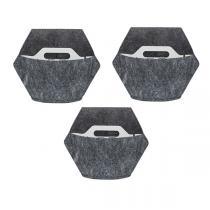Citysens - 3 pots muraux avec housse textile