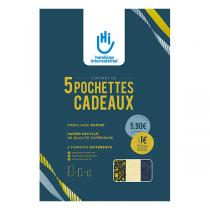 Handicap International - Pochettes cadeaux en papier recyclé x5