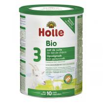 Holle - Lot 3x Lait de chèvre infantile bio 3ème âge 800g - Dès 10m