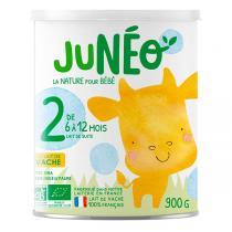 Junéo - Lot de 3 x Lait infantile 2ème âge 900g - De 6 à 12 mois