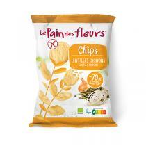 Le pain des fleurs - Chips aux lentilles et oignons 50g