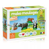 Mako moulages - Coffret 4 moules Espèces protégées - Dès 5 ans