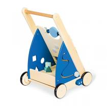 Pinolino - Chariot d'activités Titus bleu - Dès 12 mois