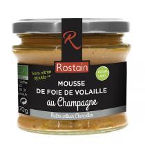 Rostain - Mousse de foie de volaille au champagne 170g