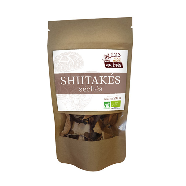 1,2,3 nous irons au bois - Shiitakes séchés en lamelles 20g