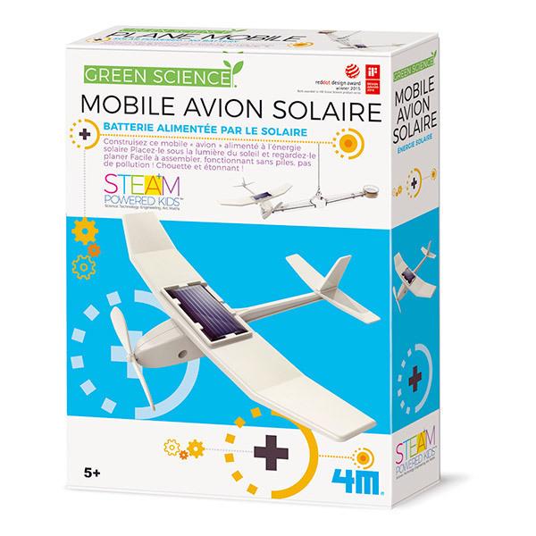 4M - Kit Construction Mobile Avion Solaire - Dès 5 ans