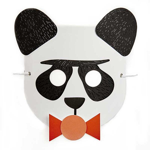 """AGENT PAPER - Masque enfant """"Baby"""" Panda a monter - Des 5 ans"""