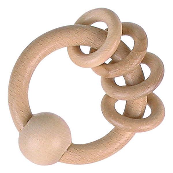 Heimess - Hochet avec 4 anneaux - Des la naissance
