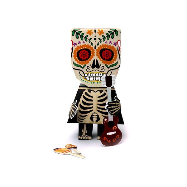 AGENT PAPER - Figurine Papertoy Calavetoy imprimé - Dès 5 ans