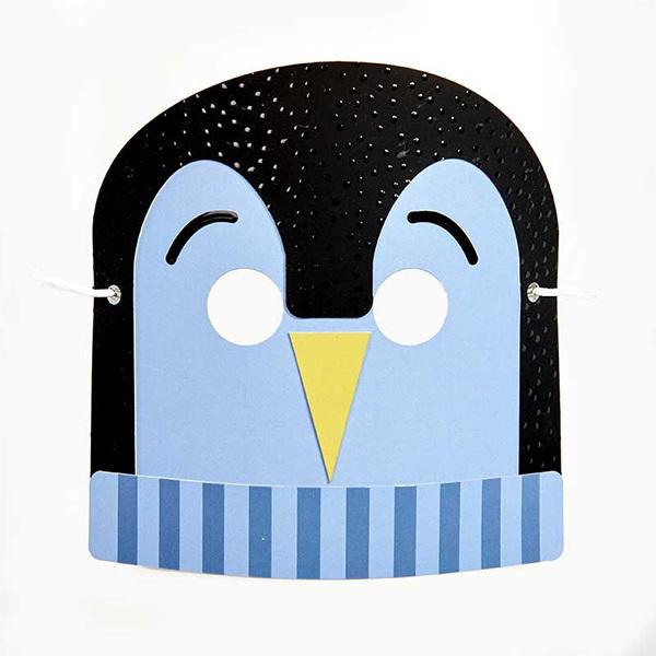 """AGENT PAPER - Masque enfant """"Baby"""" Pingouin à monter - Dès 5 ans"""