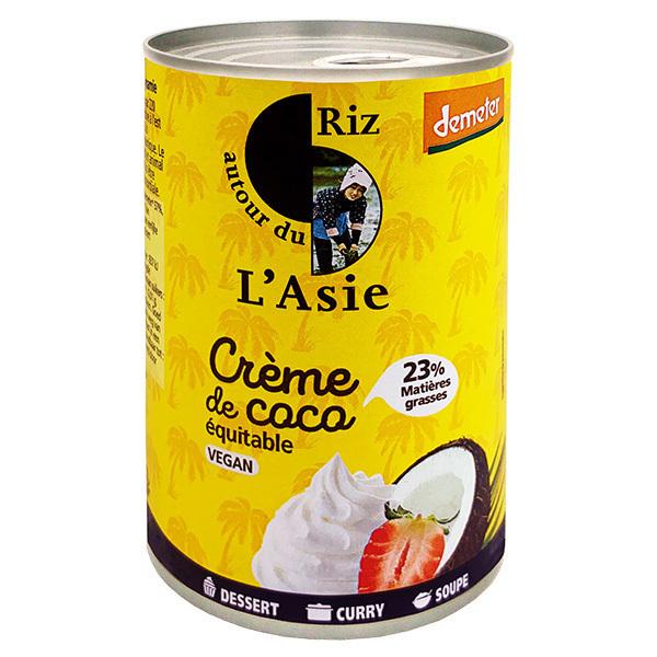 Autour du Riz - Crème de coco équitable et demeter 400ml