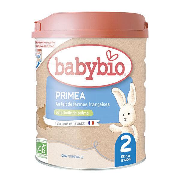 Babybio - Lot de 3 x Priméa 2 lait de suite bio 6 -12 mois 800g