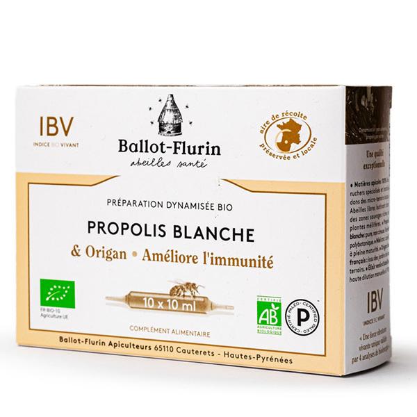 Ballot-Flurin - Propolis Blanche et origan Bio 10 Ampoules