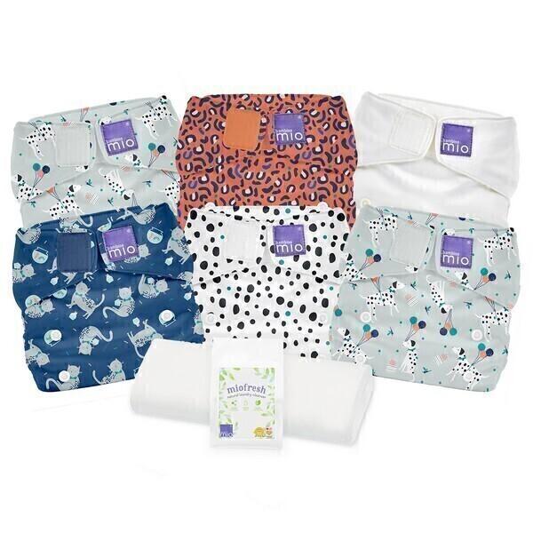Bambino Mio - Miosolo pack 6 couches lavables Animaux - De 0 à 36 mois
