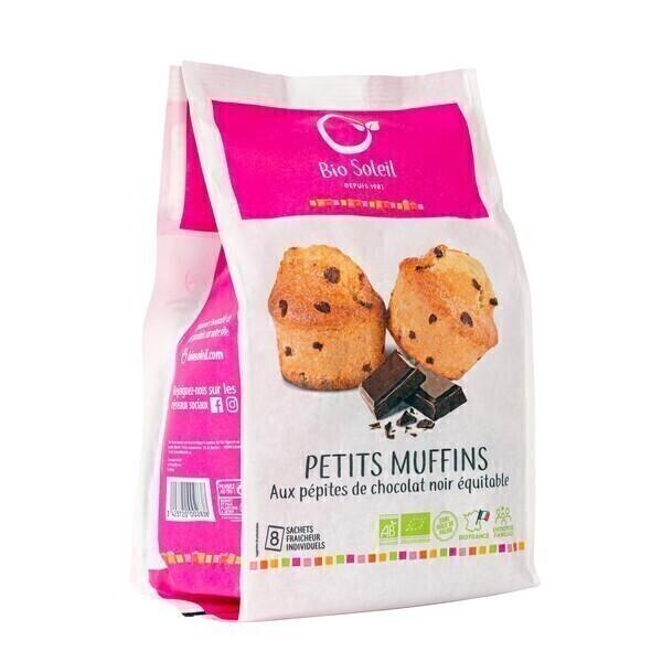 Bio Soleil - Petits muffins aux pépites de chocolat noir équitable x8 224g